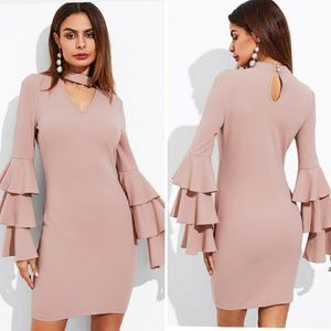 Shein choker neck dress